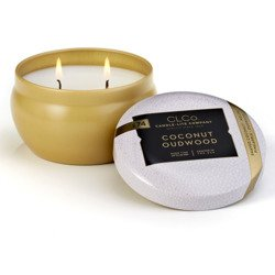 Candle-lite CLCo luxury scented candle 2 wick tin 6.25 oz 177 g - No. 74 Coconut Oudwood