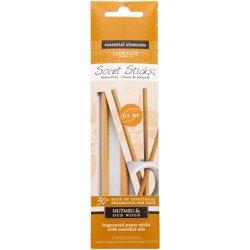 Candle-lite Essential Elements ScentSticks fragranced paper sticks with essential oils - Nutmeg & Oudwood