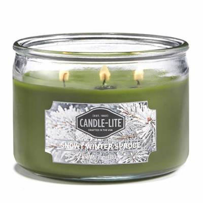 Candle-lite Everyday Collection 3-Wick Terrace Jar Glass Scented Candle 10 oz - Snowy Winter Spruce