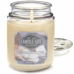 Candle-lite Everyday Collection Large Scented Jar Glass Candle 18 oz 145/100 mm 510 g ~ 110 h - Smoked Marshmallow