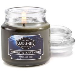 Candle-lite Everyday Collection Scented Small Jar Glass Candle With Lid 3 oz 95/60 mm - Moonlit Starry Night