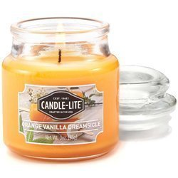 Candle-lite Everyday Collection Scented Small Jar Glass Candle With Lid 3 oz 95/60 mm - Orange Vanilla Dreamsicle