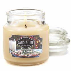 Candle-lite Everyday Collection Scented Small Jar Glass Candle With Lid 3 oz 95/60 mm - Santa's Cookies