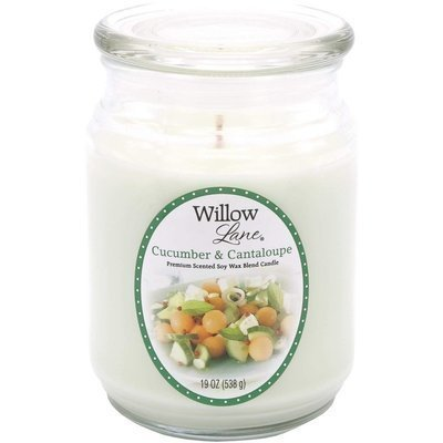 Candle-lite Willow Lane Glass Jar Soy Scented Candle 19 oz 538 g - Cucumber & Cantaloupe