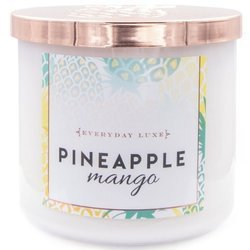 Colonial Candle Luxe large soy scented candle 3 wicks 14.5 oz 411 g - Pineapple Mango