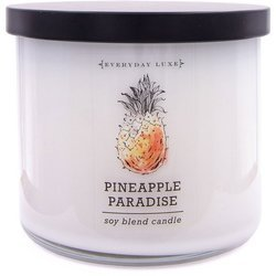 Colonial Candle Luxe large soy scented candle 3 wicks 14.5 oz 411 g - Pineapple Paradise