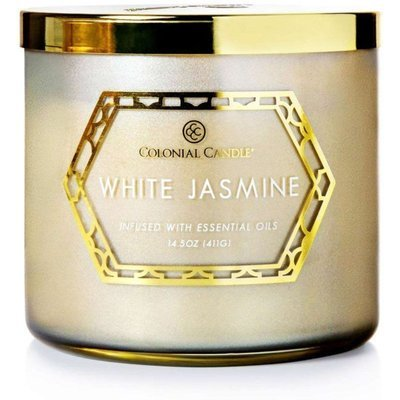 Colonial Candle Luxe large soy scented candle 3 wicks 14.5 oz 411 g - White Jasmine