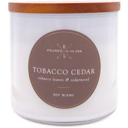 Colonial Candle Luxe large soy scented candle wooden wick 368 g - Tobacco Cedar