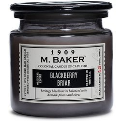 Colonial Candle M. Baker large soy scented candle apothecary jar 14 oz 396 g - Blackberry Briar
