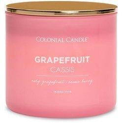 Colonial Candle Pop of Color large soy scented candle 3 wicks 14.5 oz 411 g - Grapefruit Cassis