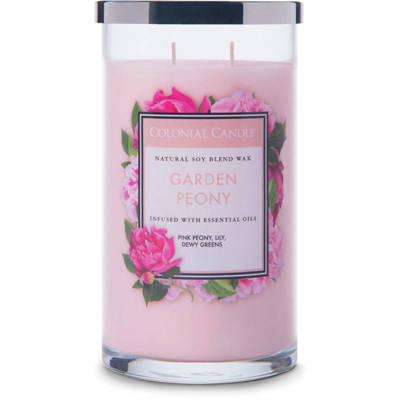 Colonial Candle large scented jar candle 18 oz 510 g - Garden Peony