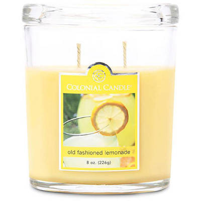 Colonial Candle medium scented oval jar candle 8 oz 226 g - Old Fashioned Lemonade