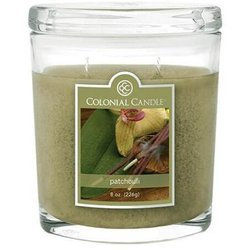 Colonial Candle medium scented oval jar candle 8 oz 226 g - Patchouli