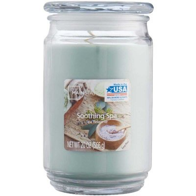 Mainstays WM Scented candle in glass jar 20 oz 566 g - Soothing SPA