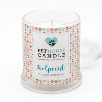 PetHouse Candle scented soy candle odor eliminating - Footprint Eucalyptus Spearmint