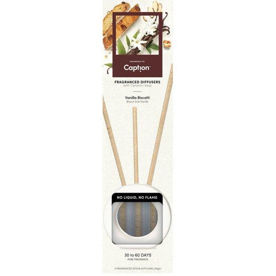 Enviroscent Caption starter set fragrance diffuser vase 3 sticks - Vanilla Biscotti