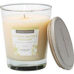 Candle-lite Essential Elements świeca zapachowa sojowa w szkle z olejkami eterycznymi 255 g - Coconut Water & Palm Leaf