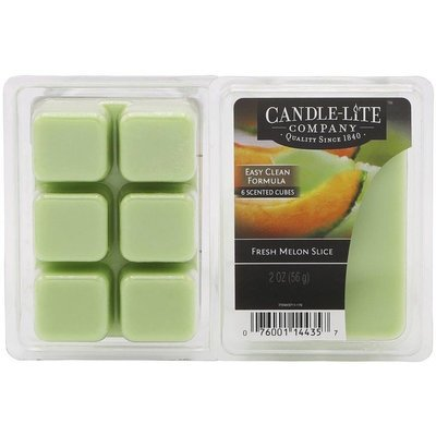 Candle-lite Everyday Collection Highly Fragranced Wax Cubes 2 oz intensywny wosk zapachowy kostki 56 g ~ 60 h - Fresh Melon Slice