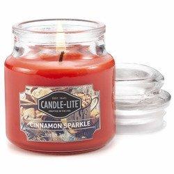 Candle-lite Everyday mała świeca zapachowa w szkle z pokrywką 95/60 mm 85 g - Cinnamon Sparkle