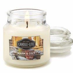 Candle-lite Everyday mała świeca zapachowa w szkle z pokrywką 95/60 mm 85 g - Warm & Cozy
