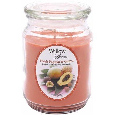 Candle-lite Willow Lane duża sojowa świeca zapachowa w szklanym słoju 538 g - Fresh Papaya & Guava