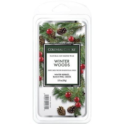 Colonial Candle Classic wosk zapachowy sojowy 2.75 oz 77 g - Winter Woods