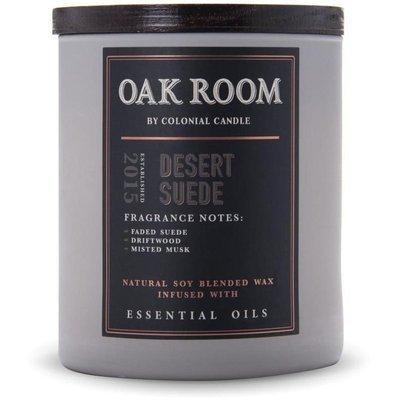 Colonial Candle Oak Room sojowa świeca zapachowa drewniany knot 15 oz 425 g - Desert Suede