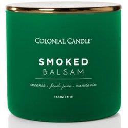 Colonial Candle Pop Of Color sojowa świeca zapachowa w szkle 3 knoty 14.5 oz 411 g - Smoked Balsam