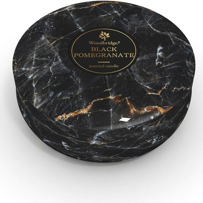 Woodbridge marble scented tin candle 3 wicks 470 g - Black Pomegranate
