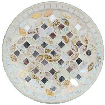 Woodbridge podstawka pod świecę 16 cm mozaika Cream & Gold Metallic