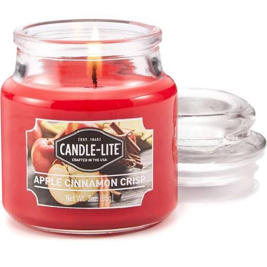 Candle-lite Everyday mała świeca zapachowa w szkle z pokrywką 95/60 mm 85 g - Apple Cinnamon Crisp