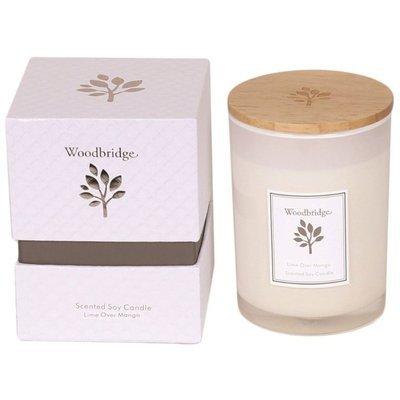 Свеча Woodbridge с ароматом сои в стеклянной коробке 270 г - Lime Over Mango
