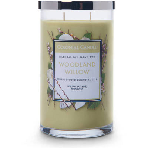 Colonial Candle большая, ароматная соевая свеча в стакане для стакана 18 унций 510 г - Woodland Willow