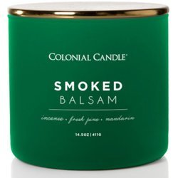 Colonial Candle Pop Of Color sojowa świeca zapachowa w szkle 3 knoty 14.5 oz 411 g - Smoked Balsam