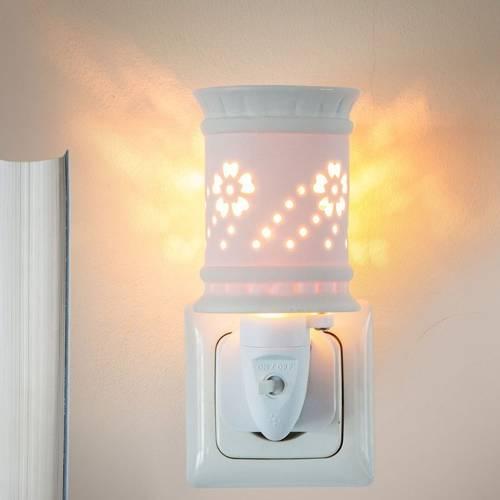 Kominek do wosków zapachowych elektryczny do gniazdka / kontaktu Sula - Biały